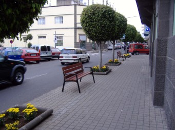 Banco en la calle Alcalde Suárez Franchy deArucas
