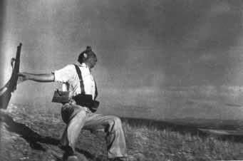 Muerte de un Miliciano, Cerro Muriano, Frente de Córdoba, Robert Capa,1936