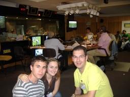 Héctor, Alba y Ruymán en CarruselDeportivo