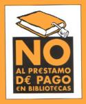No al préstamo de pago en bibliotecas