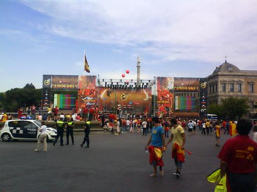 La Plaza de Colón desde la calle Génova