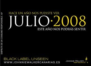 Johnnie Walker Julio 2008