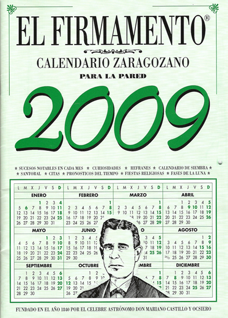 Calendario Zaragozano para la pared.