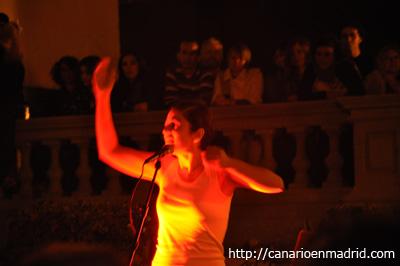 La zaragozana Cristina Verbena durante su actuación.