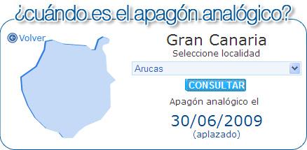 ¿cuándo es el apagón analógico?, según www.tdtcanarias.es.