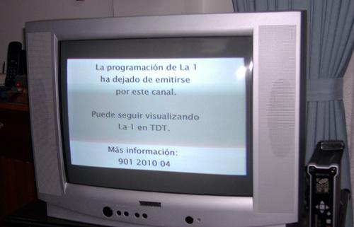 La programación de La1 ha dejado de emitirse por este canal.