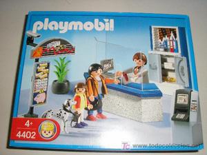 El banco de los clicks de Playmobil