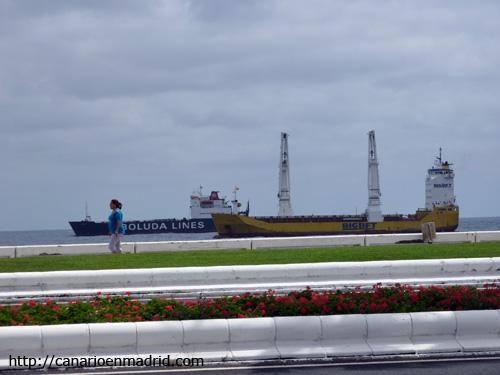 Barcos fondeados en la Bahía
