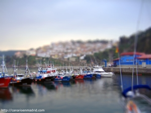 Desde el puerto en tilt-shift