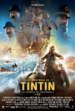 Cartel de 'Las aventuras de Tintin: El secreto del Unicornio'