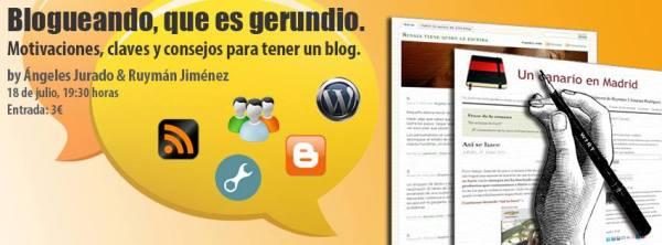 Blogueando, que es gerundio