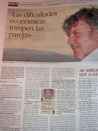 Entrevista a Braulio en Canarias7