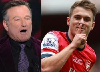 Robin Williams y Aaron Ramsey