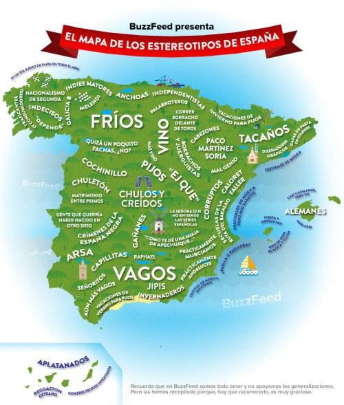 El Mapa de los estereotipos de España