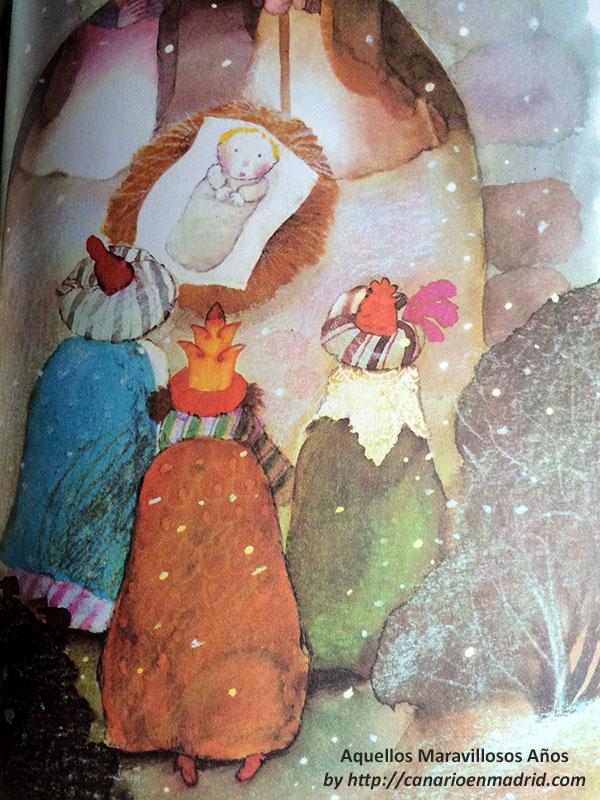 """Antes de ir a repatir """"Un 'regalo' de Paz"""" a los niños del mundo, las tres reinas magas visitaron al Niño Jesús."""