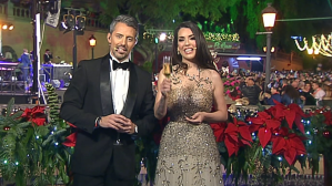 Ruth Lorenzo y Miguel Ángel Guerra, durante las Campanadas de 2018.