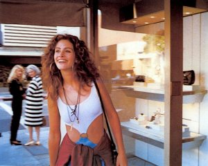 Julia Roberts en un fotograma de Pretty Woman